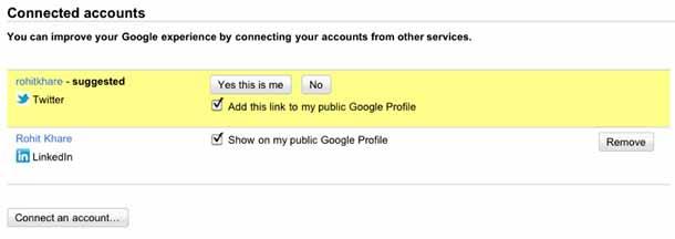Google Social Search Example