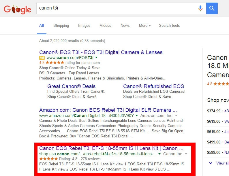 Google Rich Snippet Star-Rating Example
