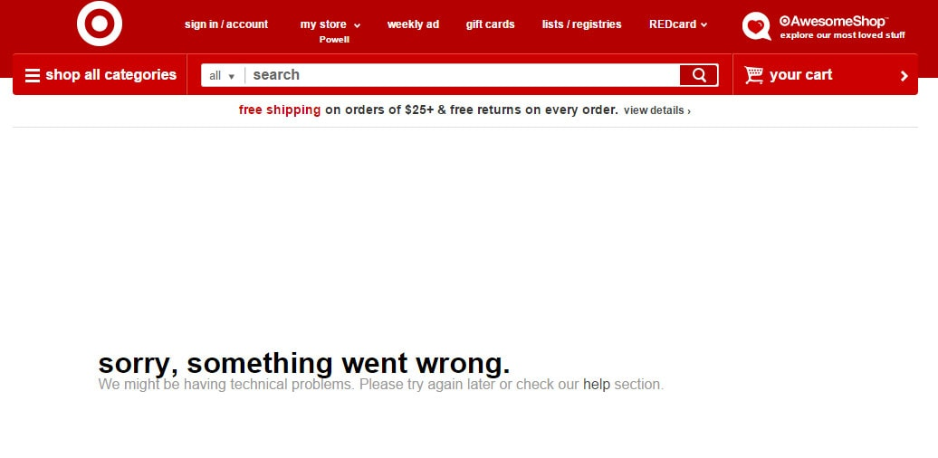 Target 404 Page